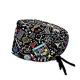 Modelo: LAB CON SISTEMA CLICK - Pelo Largo - Gorro de Quirófano ROBIN HAT con sistema de sujeción con click - Ajustable - 100% algodón (Autoclave)