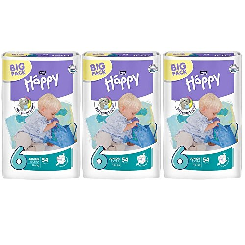 Bella Baby Happy Extra Junior Windeln Gr. 6 Monatsbox 16+kg Sparpack (3x54 = 162 Stk.)