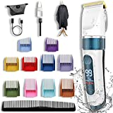 Best Mens Hair Clippers - Man's Hair Clippers,Professional Hair Clippers Rechargeable Led Display Review