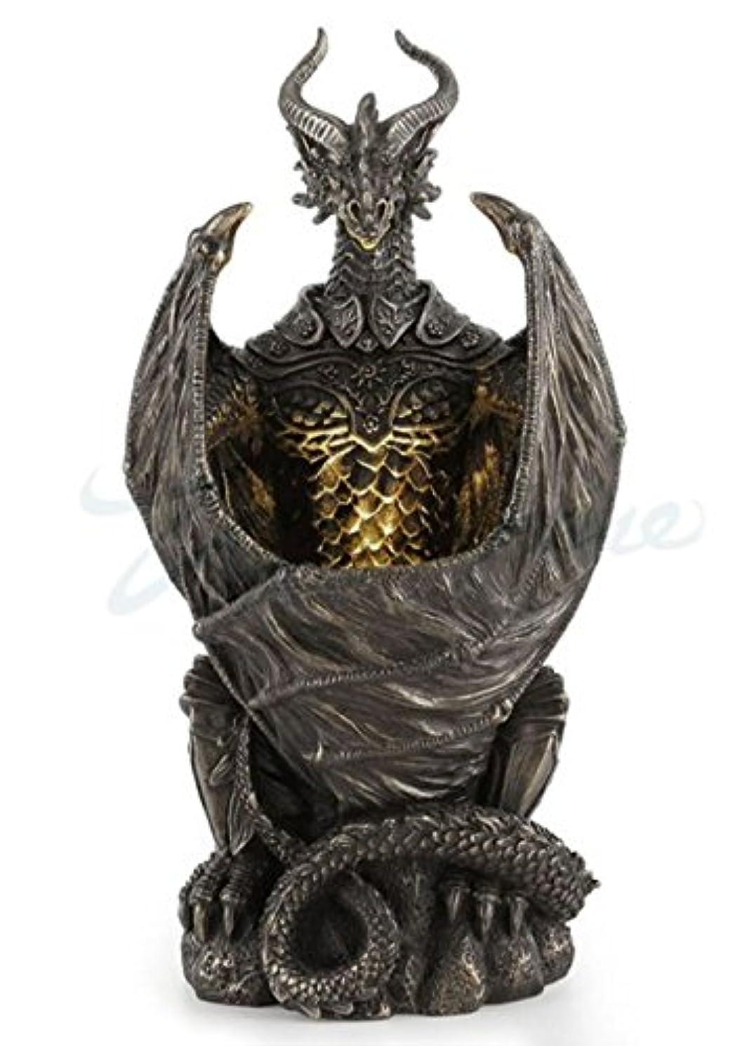 巨人狼チューブVeronese (ヴェロネーゼ) 装甲したドラゴン 終夜灯 LED ブロンズ風 置物 フィギュア