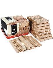 Magicfly ijsstokjes van hout, popsicle stokjes, houten spatel om te knutselen