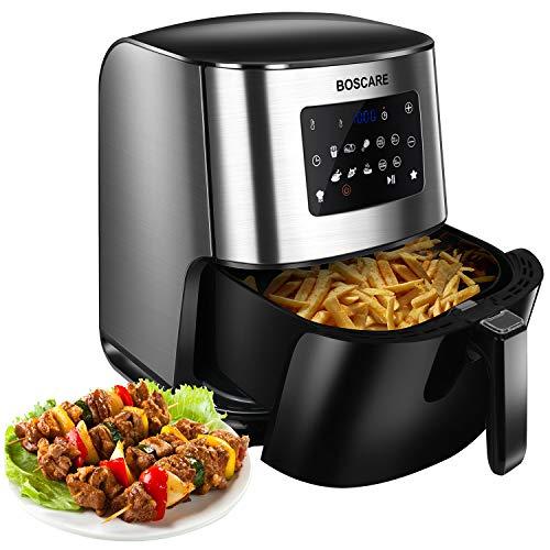 BOSCARE Air Fryer Oven ,6.4 Quart/7L 1700W Digital Air Fryer Oven Oilless Cooker,Healthy Cook for Air Frying, Roasting, Reheating Quart Nonstick (6.4 Quart/7L Air Fryer)