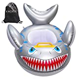 R HORSE Shark Shaped Baby Swimming Pool Float Cartoon Inflatable Fish Swimming Ring for Kids Toddles Aged 9-36 Months