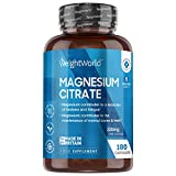 Citrato de Magnesio 740mg, 180 Cápsulas Vegano - 220mg de Magnesio Puro de Alta...