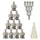10 conectores BNC para conector coaxial RG58 RG-58 macho...