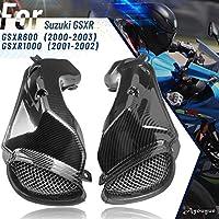 オートバイの吸気管ダクトカーボンファイバー柄インテークパイプGSX-R600に適合GSXR 600 K2 2001 2002 2003 GSX-R1000 GSXR 1000 K1 2001 2002 (炭素繊維印刷)