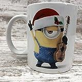 N\A Minons Cattivissimo Me Tazza di caffè Rock N & rsquo; Rotolo Chitarra Natale Megatoys Mug-Coppie Tazza di caffè Gi