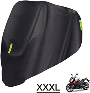 Tidyard Universal Motorcycle Cover – All Season Waterproof Outdoor Protection Against Dust, Debris, Rain and Weather(M-XXX...