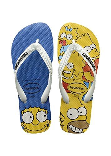 Havaianas Herren Simpsons Zehentrenner, Mehrfarbig (White 0001), 33/34