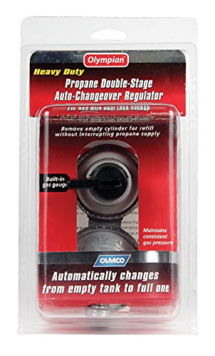 Camco Propane Double-Stage Auto-Changeover Regulator- For RVs with Dual Propane Tank Hookups, Maintains a Constant Gas Pressure With Auto Change From Empty to Full Tanks (59005)