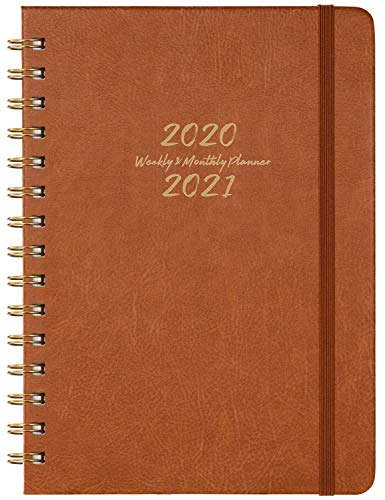 2020-2021 Planner - Weekly, Monthly and Yearly Planner with Monthly Tabs, 6.3