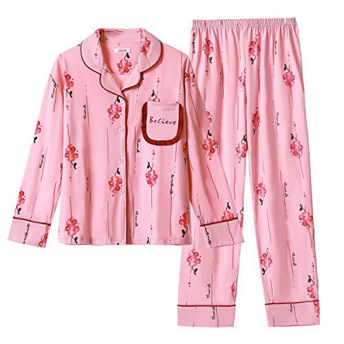 GOSO Pijama niñas 7 13 años Botones Adolescentes