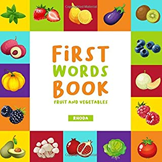 First Word Book: Fruit And Vegetables Picture Book For Baby