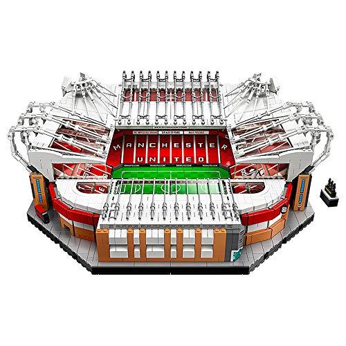 SONGLR 3908 Stück Lego Berühmte Fußballstadien Baukasten Schöpfer Manchester United - Altes Trafford-Stadion 3D-Puzzle Schwierige Blöcke Jungen und Mädchen über 14