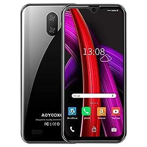 immagine di Smartphone Offerta del Giorno 4G,AOYODKG A20 5.5 pollici-IPS,3GB RAM+32GB ROM,3400mAh,Android 9,Face-ID,2 Micro SIM + 1 MicroSD (Esteso 128G)