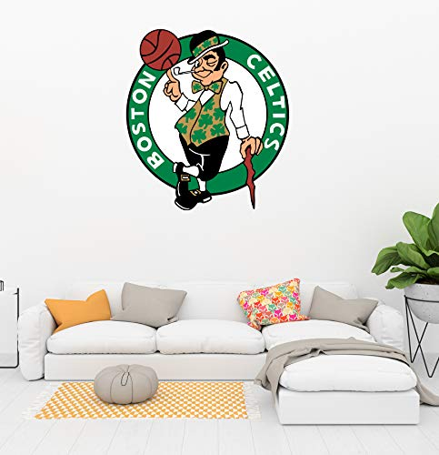 Basketball Team Logo - Removable Wall Decal Vinyl for Home Decoration (20' x 22')