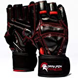 Work Out Gloves for Weight Lifting - Top Men and Womens Weightlifting Gym Glove for Barbell Exercise Workouts - Extra Soft Protective Grips for Comfortable Workout Grip with Lock In Wrist Wrap