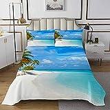 Set copriletto a tema spiaggia stampato mare per bambini ragazzi ragazze adolescenti decorazione hawaiana spiaggia trapuntata trapunta stile mare 3 pezzi matrimoniale
