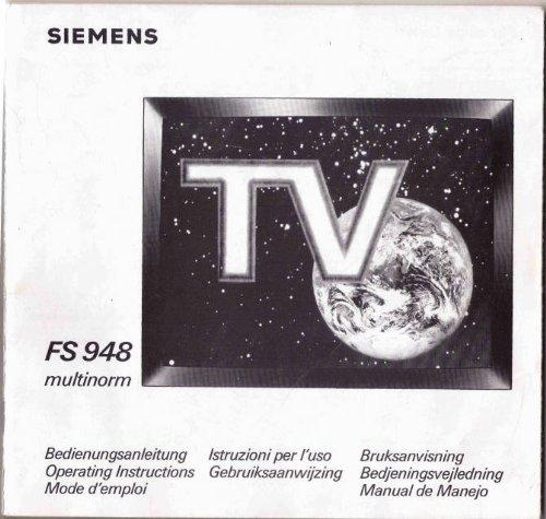 Fernsehgerät Fernseher FS 948 multinorm - BEDIENUNGSANLEITUNG (FS948)