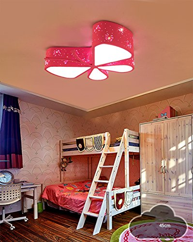 Lily's-uk Love Creative Kids Room Lumière de plafond Led Personnalité maternelle et enfant Kindergarten Classroom éclairage Moderne Cartoon Butterfly Lights - Rose