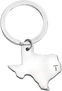 سلسلة مفاتيح على شكل ميدالية خريطة الولايات المتحدة الأمريكية من بوبوبونا هدية مسافة طويلة هدية للأصدقاء المقربين للأصدقاء