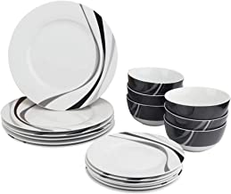 AmazonBasics مجموعه ای از وسایل آشپزی 18 قطعه - Swirl، سرویس برای 6