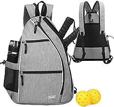 Pickleball Bag Pickleball Backpack for Women Men Tennis Bag Sucipi Tennis Backpack Reversible Pickleball Paddle bag Tennis Rackets Bags for Ladies Girls Boys Kids Gray