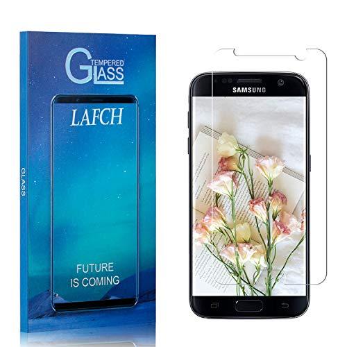 LAFCH Display Schutzfolie Kompatibel mit Galaxy S7, 1 Stück 9H Härte Bubble Free Hüllenfreundlich HD Klar Gehärtetem Glas Displayschutzfolie für Samsung Galaxy S7