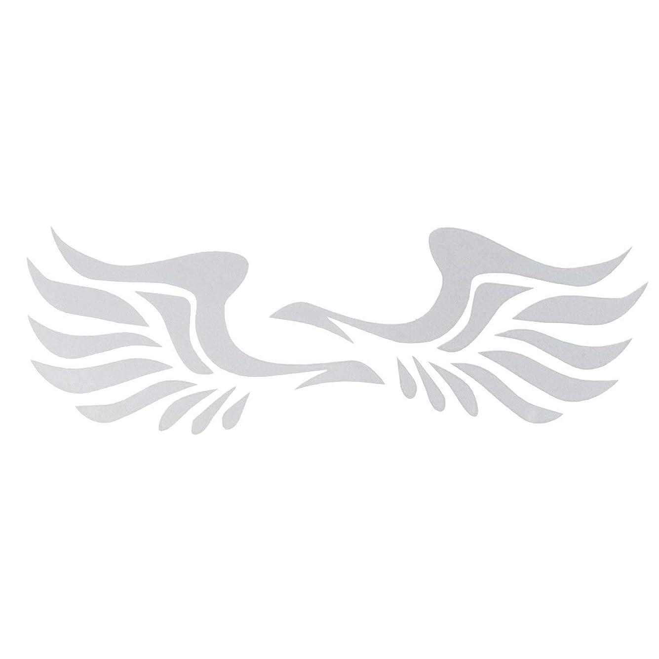 ゴネリル馬力打撃VORCOOL 車用サイドミラーステッカー 翼柄 車 デカール ウィングデザイン 3Dステッカー デコレーション 装飾 1ペア入 (ホワイト)