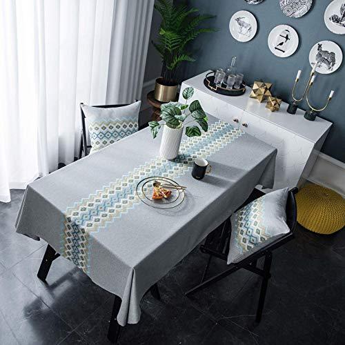 Sinzong Rechthoekig tafelkleed, decoratief tafelkleed, rechthoekig, tafelkleed, eettafel, schoorsteensims mesa