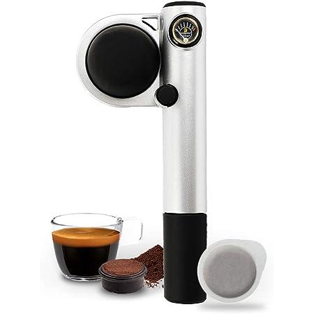 Handpresso Pump Plateada 48256 Cafetera espresso portátil e manual para monodosis ESE o café molido
