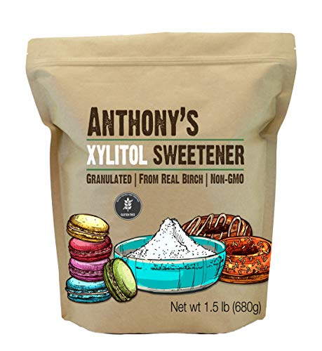 Anthony's Xylitol Sweetener, 1.5lbs, Made from Birch, Gluten Free, Keto Friendly, Non GMO