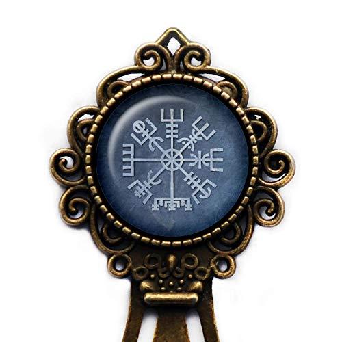 Viking Runes Vegvisir Viking Compass Wikinger Runen Kompass Lesezeichen