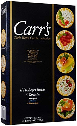 Carr's Table Sales Water Cracker Selection 6 of Varieties 3 Max 63% OFF Packages