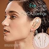 Dastrues Fashion-Forward Ear Wrap Crawler Hook Earrings Women Alloy Rhinestone High Polished Earrings 1/2/5pcs Gift for Girls