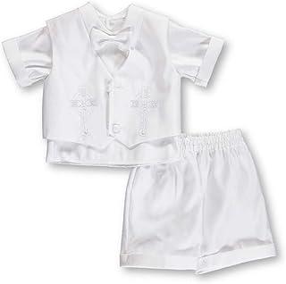 9 Months White Kaifer Baby BoysPearce 5-Piece Christening Tuxedo