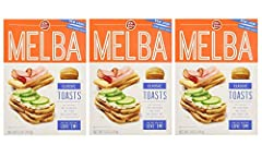 Old London Melba Toast Classic 3 - 5 ounce boxes 60 calories per serving, fat free, 0 grams trans fat, no cholesterol Certified Kosher by the Orthodox Union Top 'em, dip 'em, love 'em