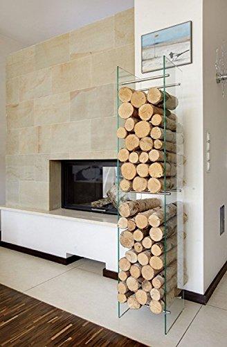 2nd Concept Supporto per legna camino, tipo 4, dimensioni: 32 x 32 x 160 (L x P x A)
