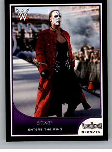 2016 Topps WWE Road to Wrestlemania #8 Sting - Enters the Ring NM-MT