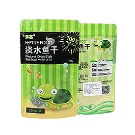 YU-HELLO 250ml/bag Fish Tank Freshwater Dried Fishes Turtle Feed Turtles Brazilian Tortoise Pet Food