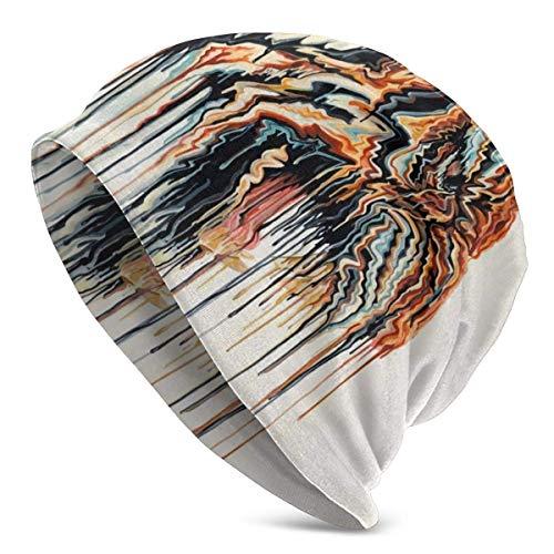 Gorro Holgado Unisex con Pintura de Tigre Abstracto, Adecuado para Todos los Estilos, Gorro de Punto para el Uso Diario