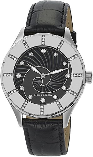 Pierre Cardin - Reloj analógico de Cuarzo para Mujer, Color Plata/Negro/Negro