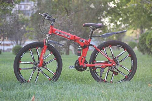 """Bicicleta plegable de montaña de 24"""" de Mnjin"""