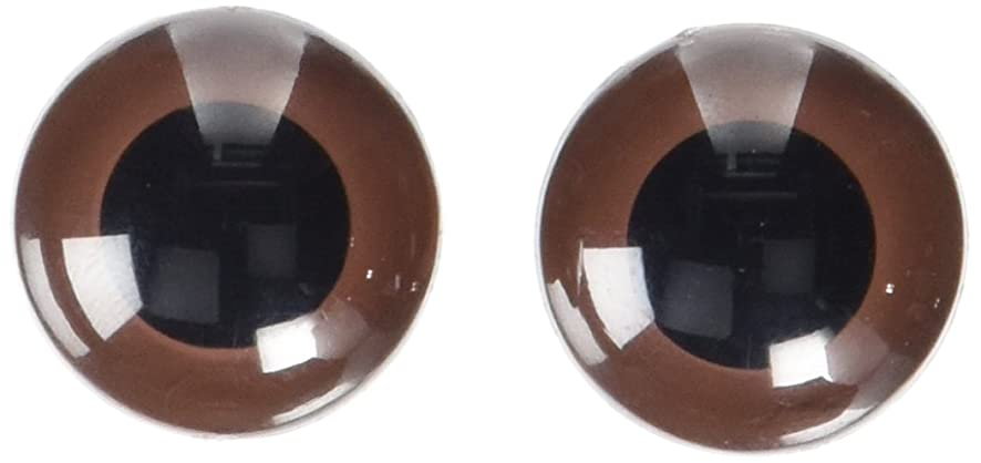 Darice 51124-07 Animal Eyes with Plastic Washer Brown 24Mm 2Pc,