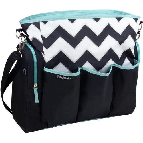 iPack Baby Tote Style Diaper Bag, Chevron