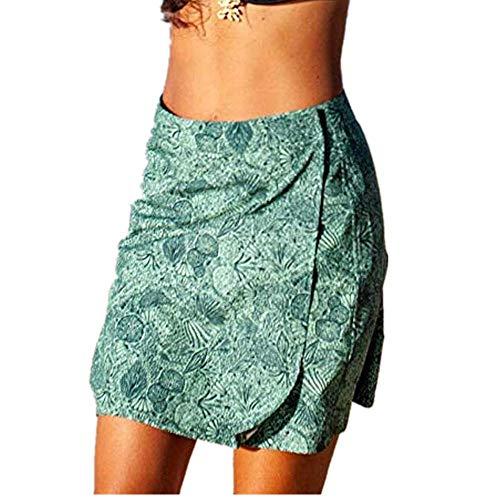 Battnot Damen Strand Cover-up Röcke Elegant Quick Wrap Bikini Vertuschung Multitasks Blumendruck Strand Sommerrock, Frauen Kleider Sexy Casual Reise Party Arbeitskleid Skirt Womens Freizeit Dress