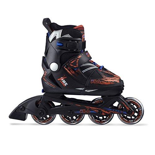[フィラ スケート] FILA SKATES X-ONE インラインスケート サイズ調整可 国内正規代理店品 BLACK/RED 1.S(18.0-20.5cm)