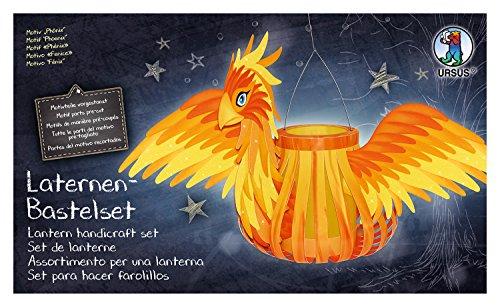 Ursus 18720010F - Laternen Bastelset Phoenix, Set zum Basteln einer Laterne, für Kinder, inklusive Bastelanleitung, ideal für den nächsten Laternenlauf