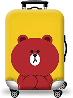 TDC Men's Elastic Luggage Cover Suitcase M Red bear