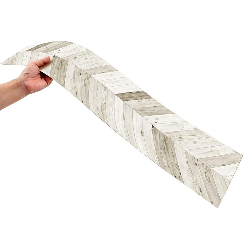 日常的にモードリンスカリービニールの自己接着床、15.5 * 91.5センチメートルリビングルームの寝室のPVC防水床の装飾、滑り止めの耐摩耗性の木目の接着剤のフロアーリング、1平方メートル7個が含まれています